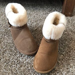 Winter ankle bear paw fur boots